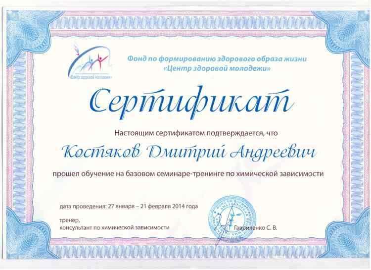 Костяков - Тренинг по химической зависимости